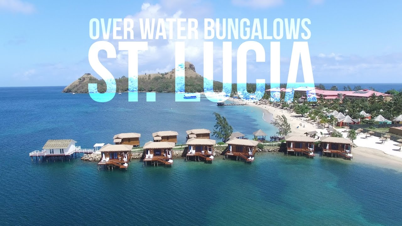 Over Water Bungalows In St Lucia At Sandals Grande St